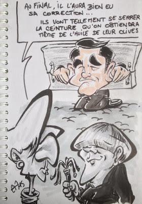 Allemagne et FMI- nouveaux presse-olives grecques... Tsipras dans l'étau... Guillaume Néel©