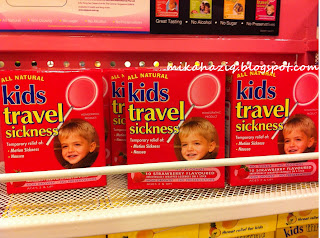 travel sickness kids
