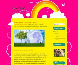 Pink Land Blogger Template
