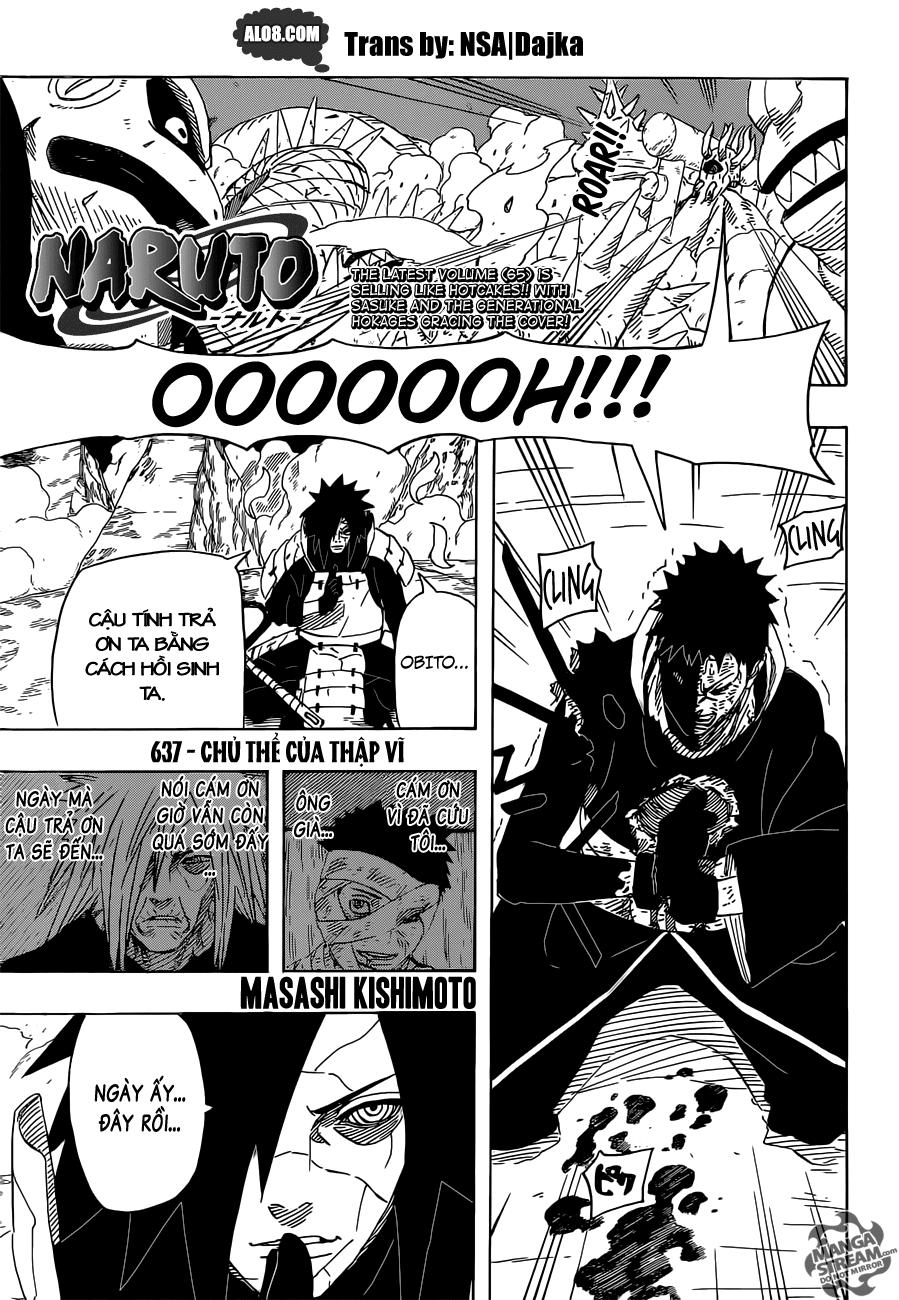Naruto chap 637 Trang 1