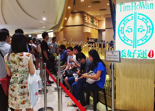 Long line of queue at Tim Ho Wan at Plaza Singapura, Singapore