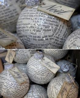 Adornos de Navidad con Papel de Diario