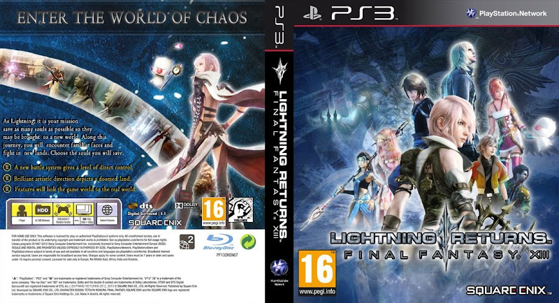 Capa Lightning Returns Final Fantasy XIII PS3