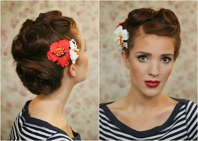 The Freckled Fox Modern Pin Up Week 6 Retro Roll Updo