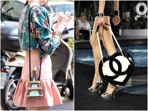 Bolsas Divertidas Paris Torre Eiffel Chanel Coração