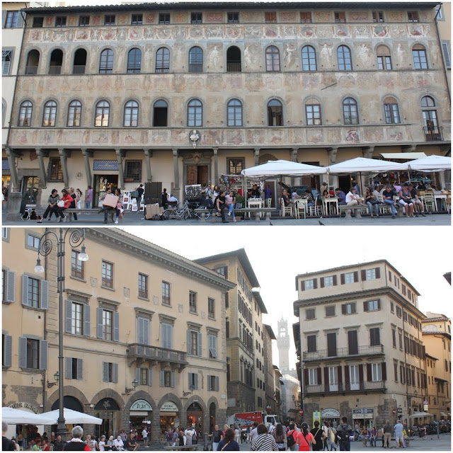 Piazza Santa Croce is situated in front of Basilica of Santa Croce in Florence, Italy