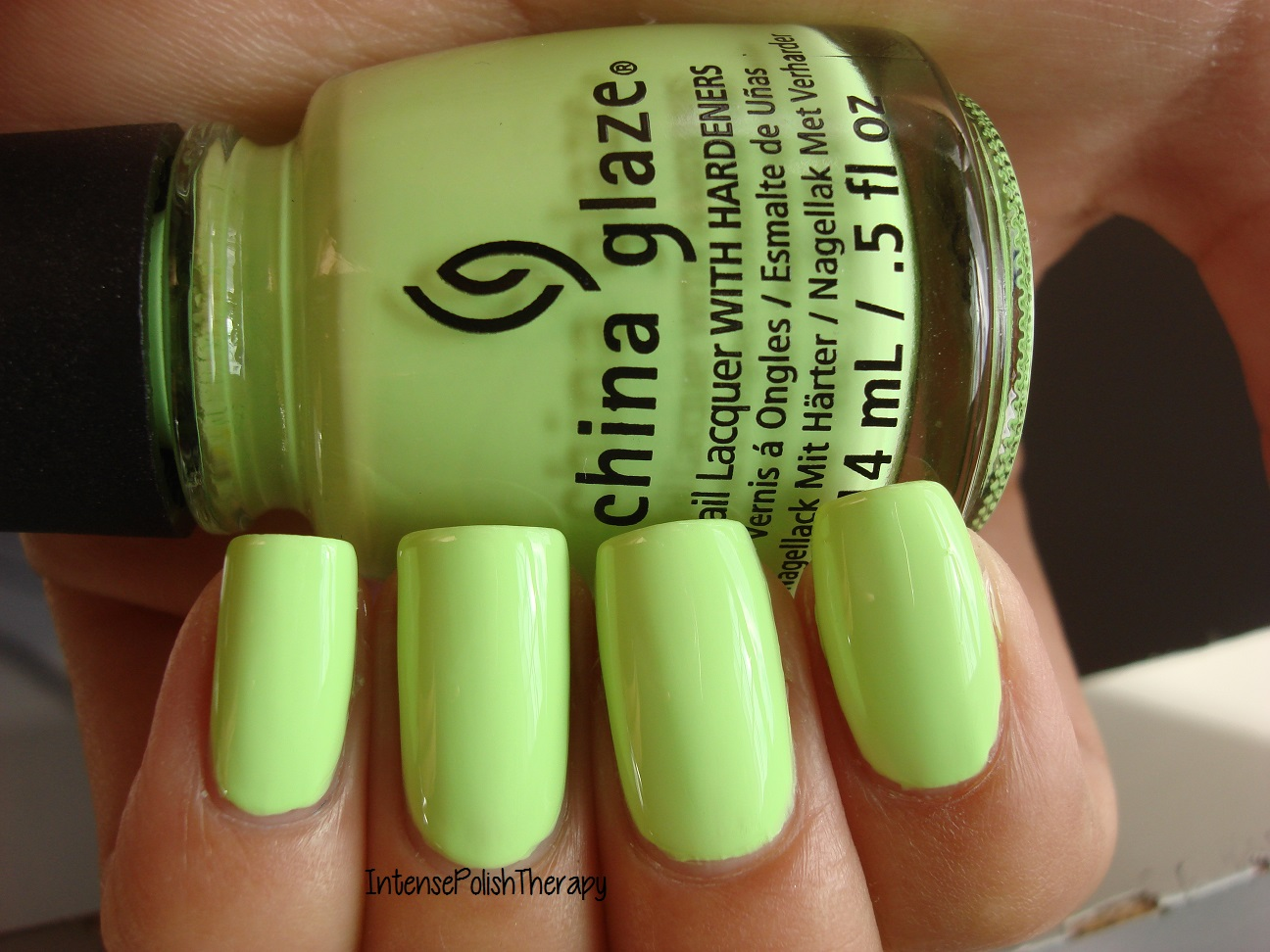 China Glaze - Grass is Lime Greener