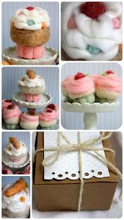 Cupcakes de Fieltro, Paso a Paso, Manuallidades Faciles