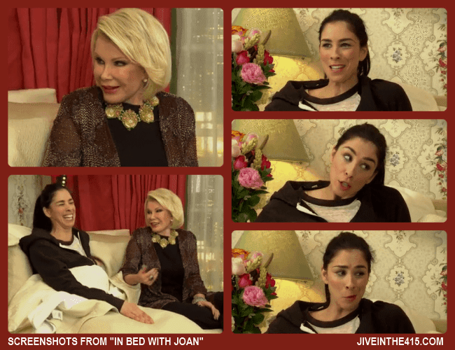 "Screenshots from ""In Bed With Joan"" starring Joan Rivers and special guest  Sarah Silverman."