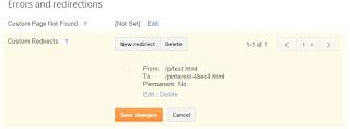 Pinterest Blogger Verfiy Redirect