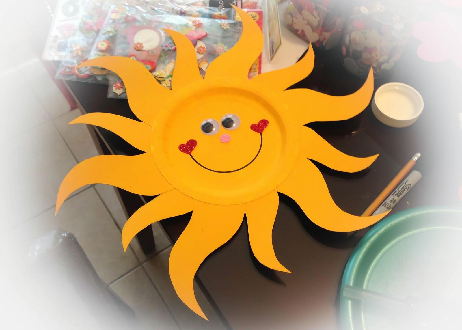Con Las Manitas Pintadas Como Hacer Un Sol Con Un Plato Desechable