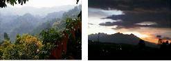Pegunungan dan Suasana Sore