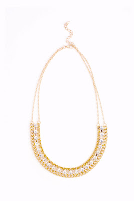 Crystal Link Collar Necklace
