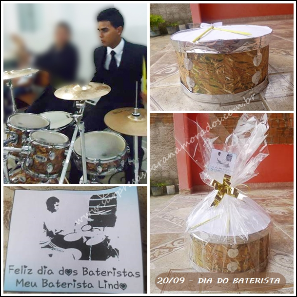 caixa para o namorado baterista