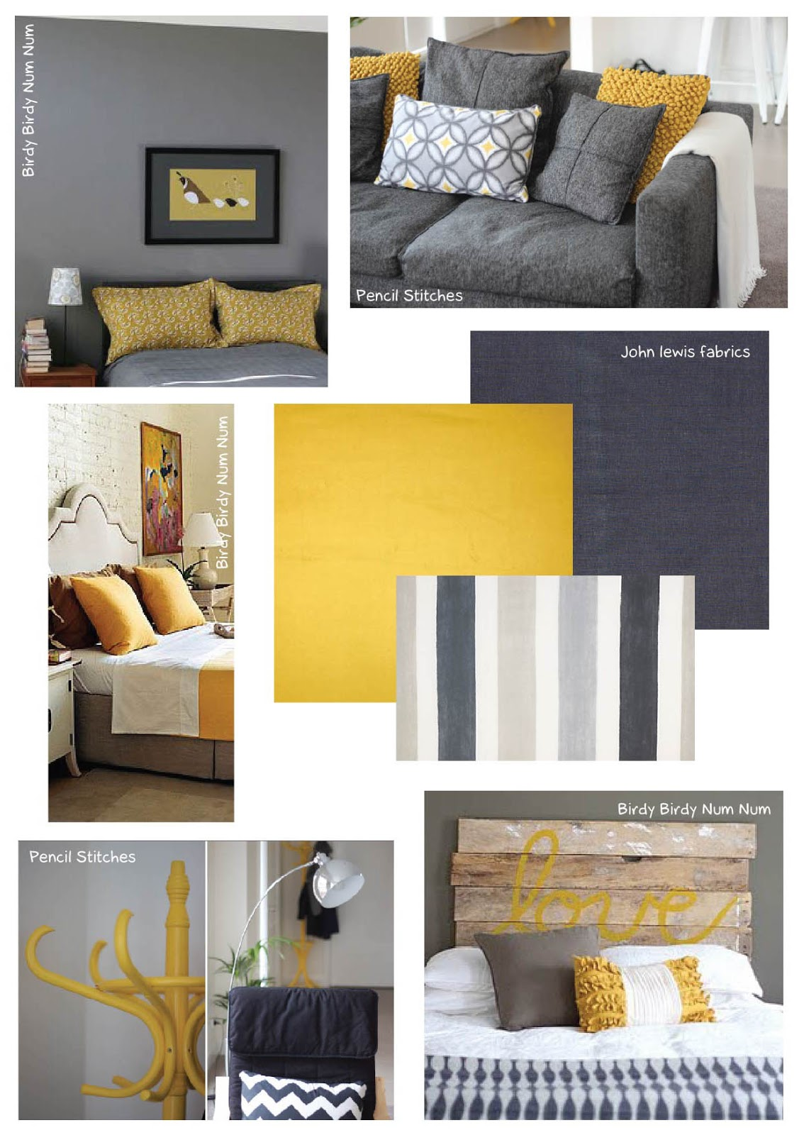 Best Grey Mustard Bedroom On Pinterest Wallpapers Grey And 400 x 300