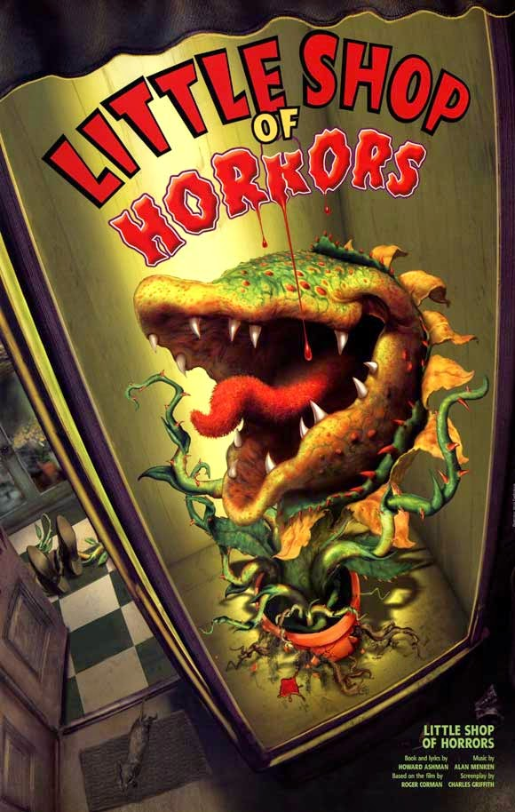 """little shop of horrors paper Today's paper advertisement  """"little shop of horrors,"""" howard ashman and alan menken's collaboration about a flesh-devouring plant,."""