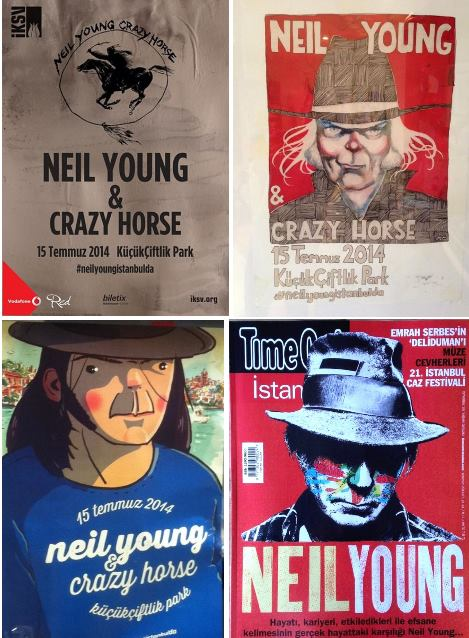 Neil Young Istanbul Poster