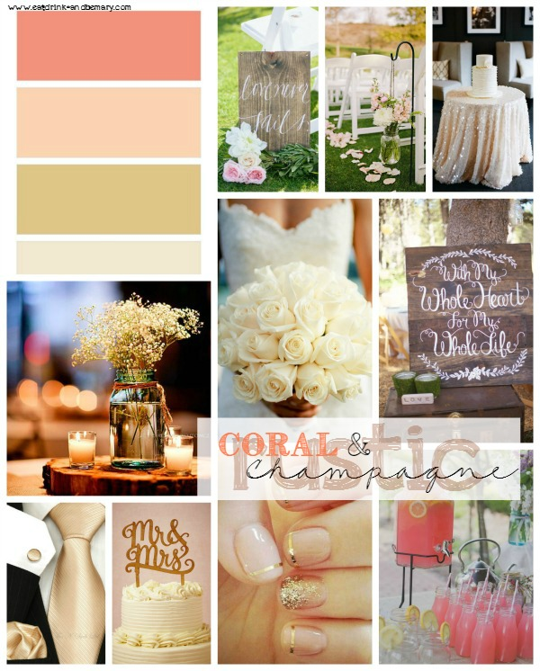 Eat Drink & Be Mary: Coral + Champagne