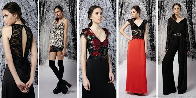 Moda invierno 2015 para fiestas estilo juvenil, colección de la marca argentina Penny Love otoño invierno 2015. Moda.