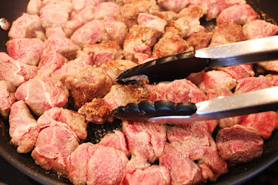 Browning Beef Stew Meat