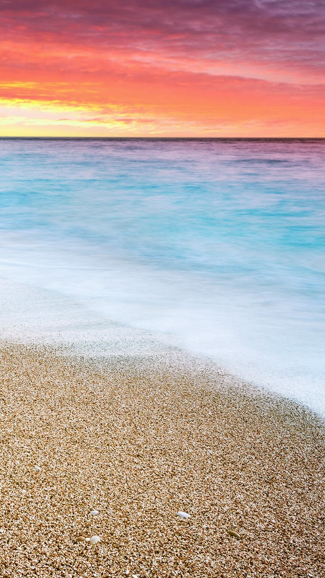 Sunset at Beach wallpapers for iphone 5S HD