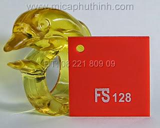 Mica màu đỏ FS 128