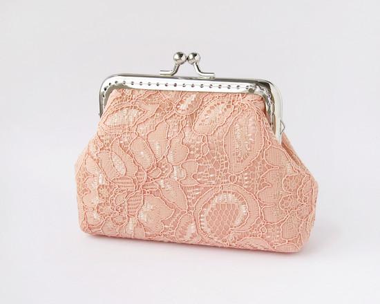 coral bridal purse, свадебный кошелек