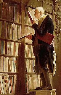 لوحة للفنان الألماني كارل شبيتزفيج تحت عنوان قارض الكتب