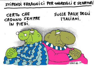 Vignetta - stipendi ai politici
