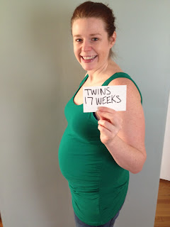 17 week twin belly