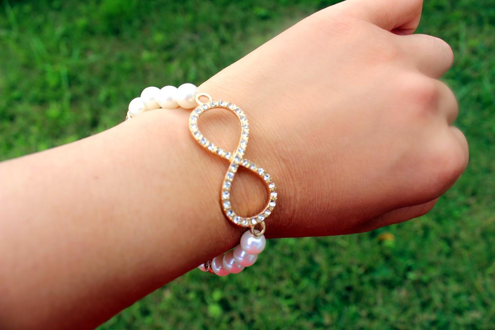 White Infinty Bracelet