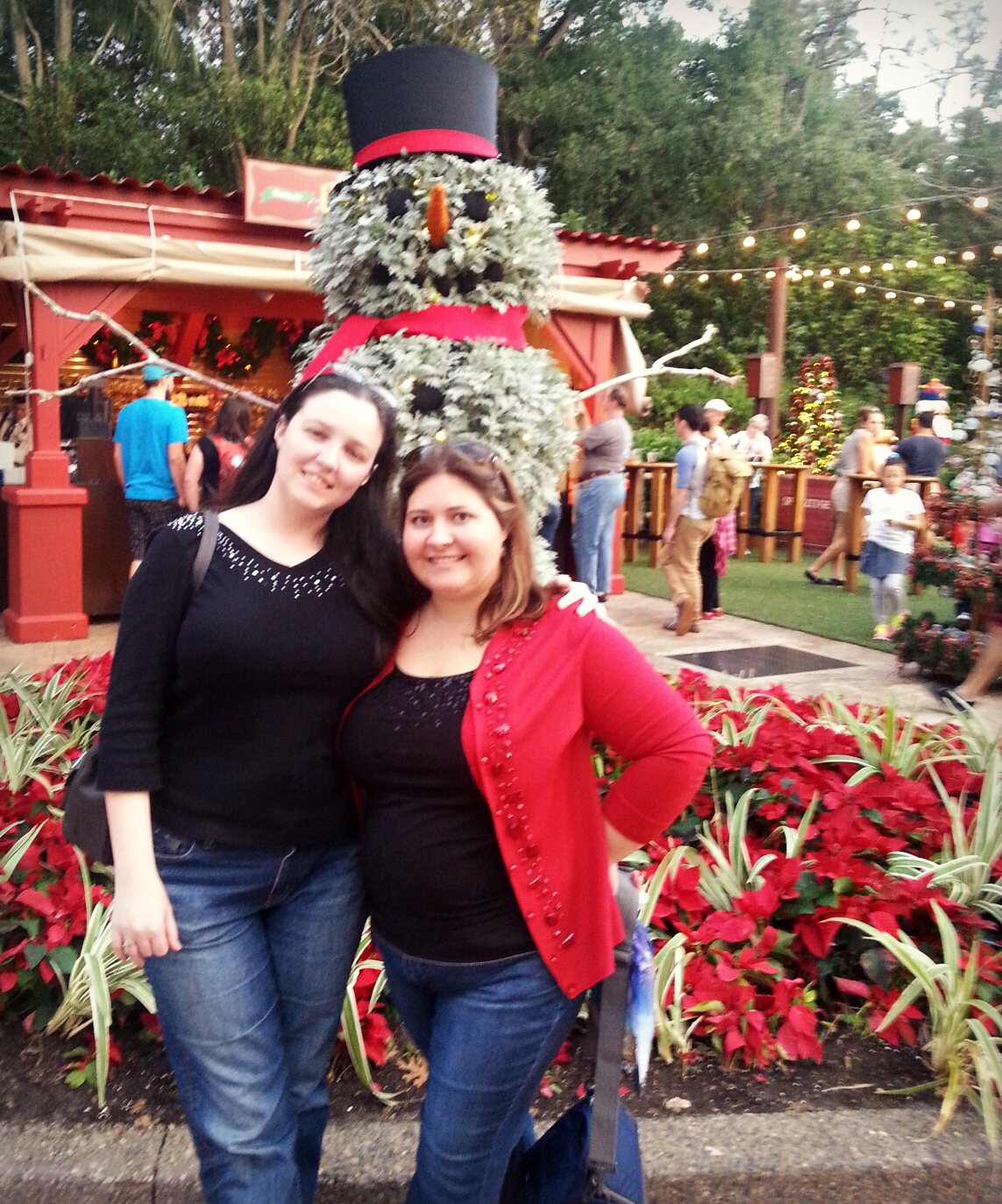 Tracie and Lee at Epcot Candlelight Processional