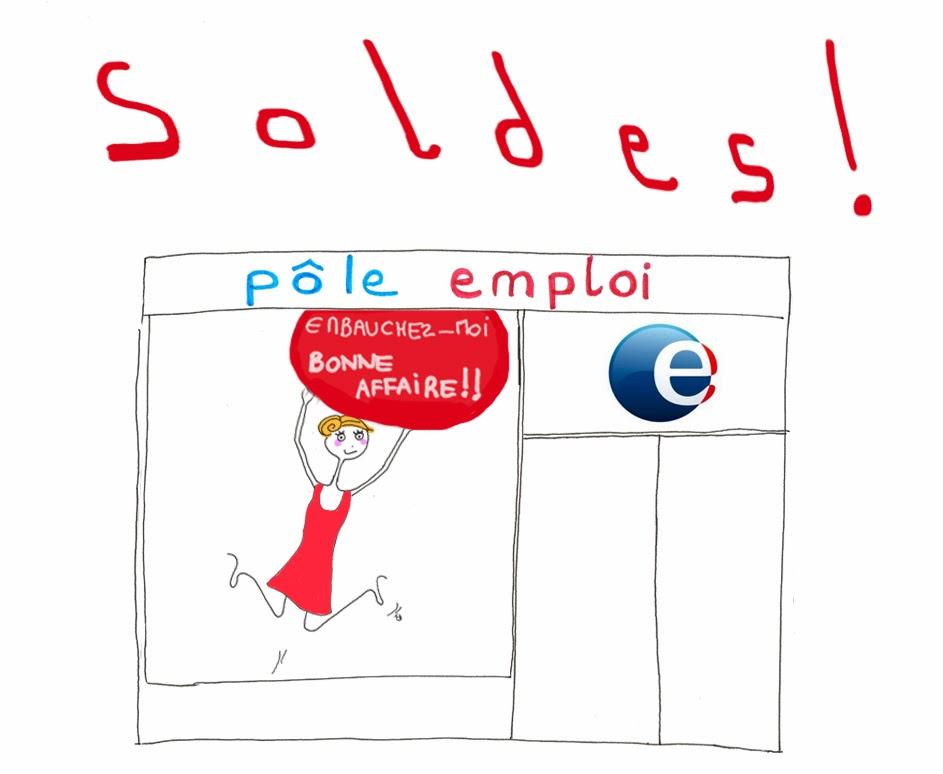 soldes, chômage, CV, embauche