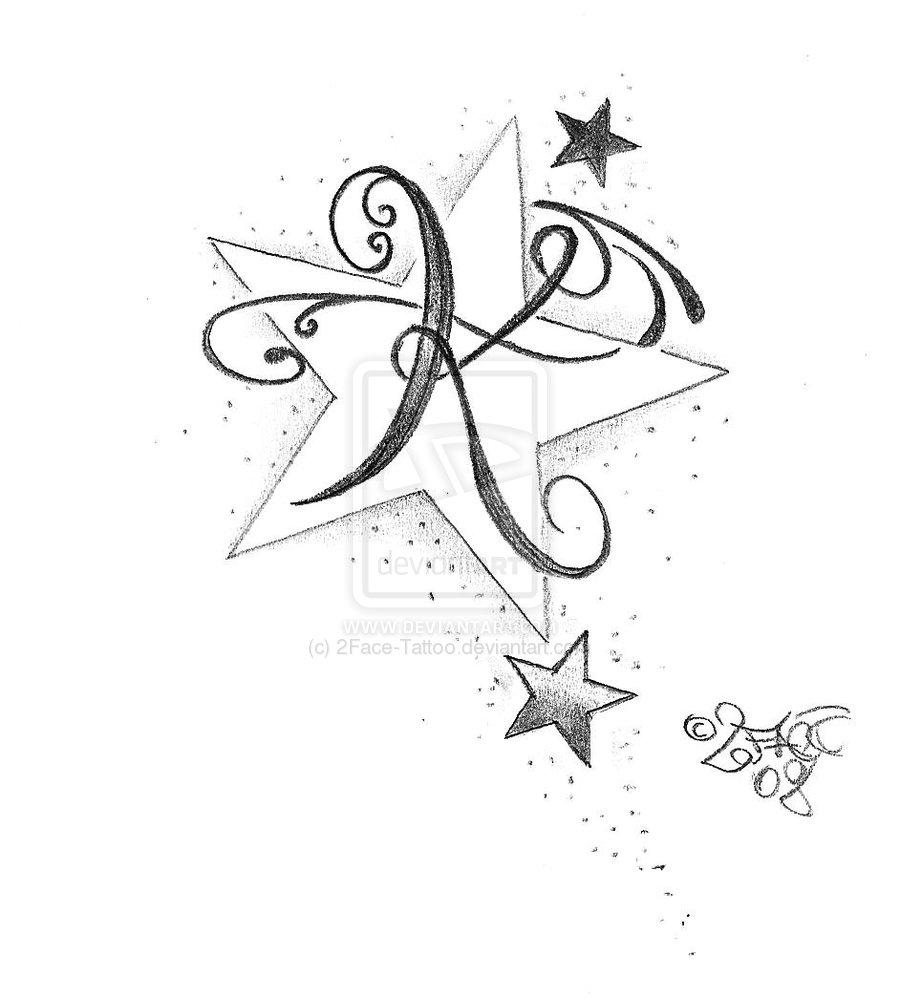 K And M Tattoo Initial m tatt