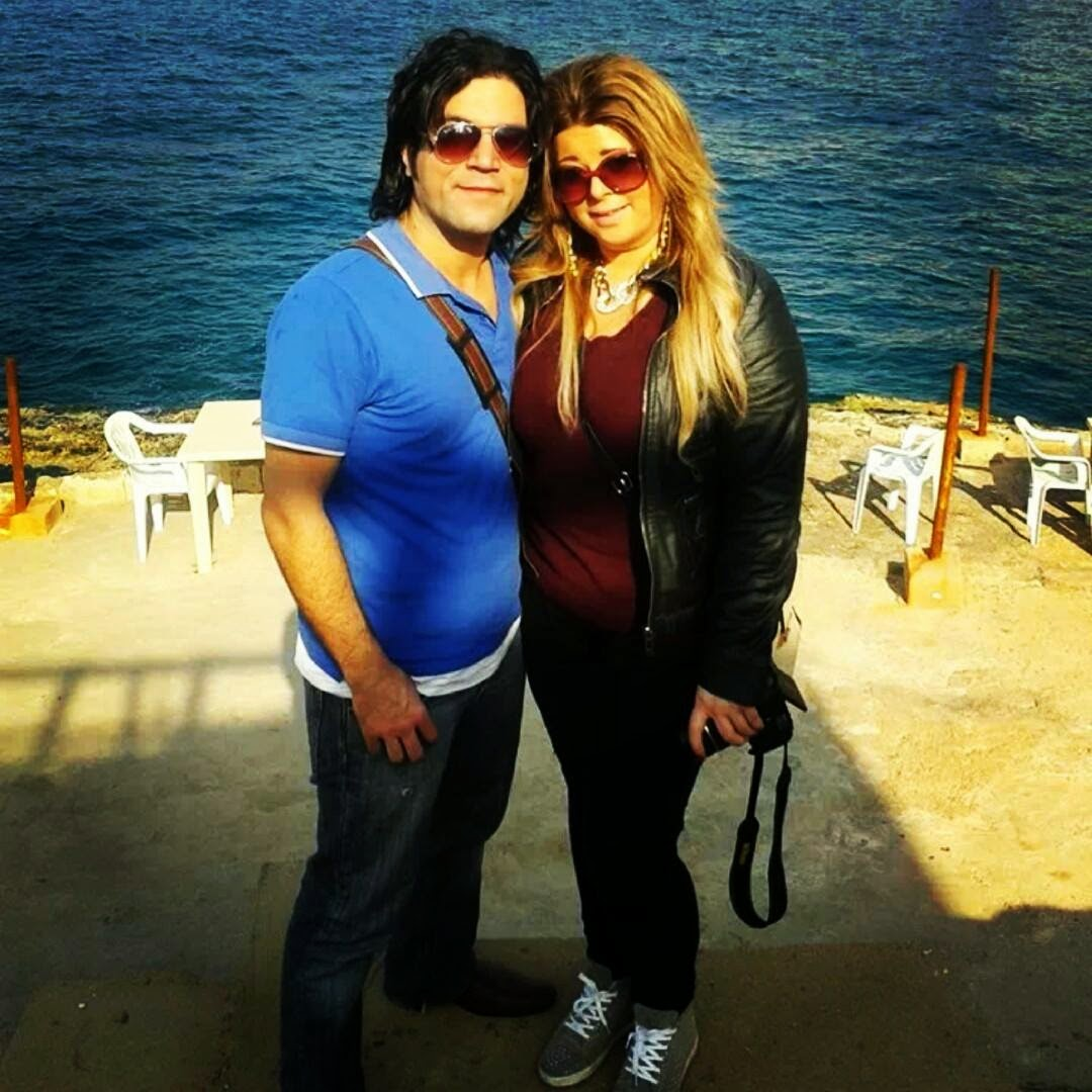 Me and my husband in Beirut
