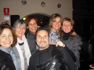 Aqui con Anna Rosell, Rosa Abuchaibe, Sixta, María y Luisa.