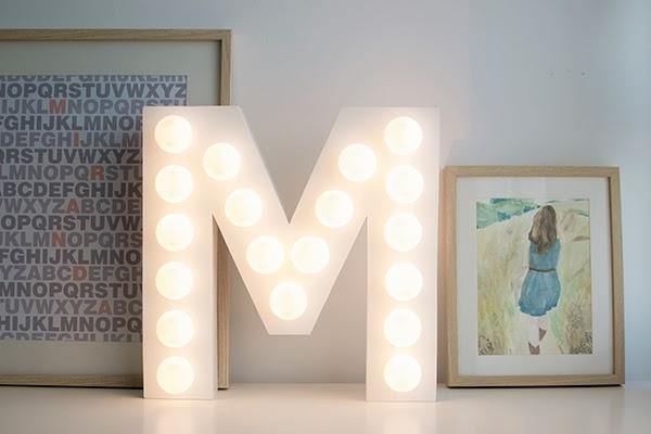 DIY letra iluminada