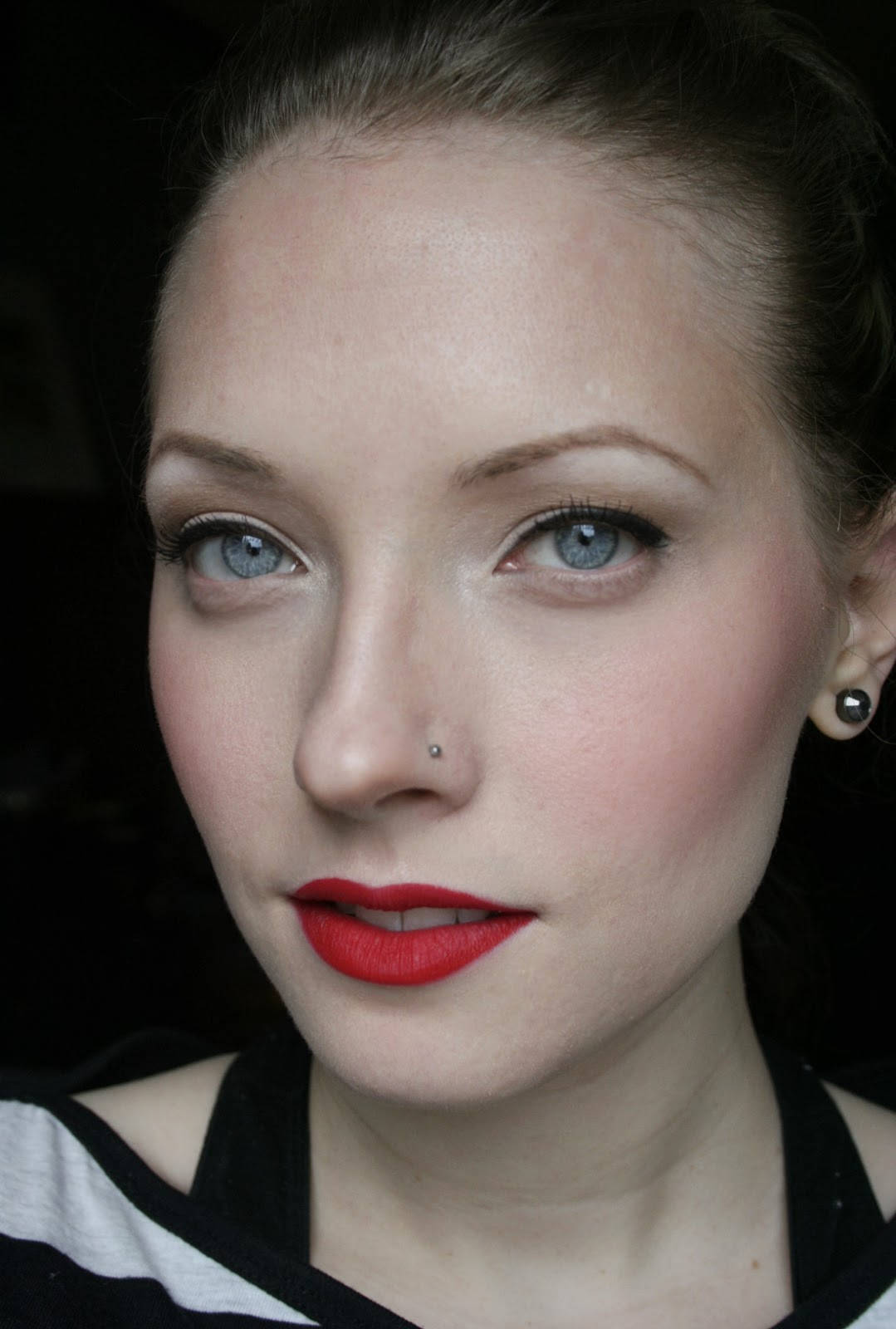 kt the little lady holiday party makeup the modern pinup