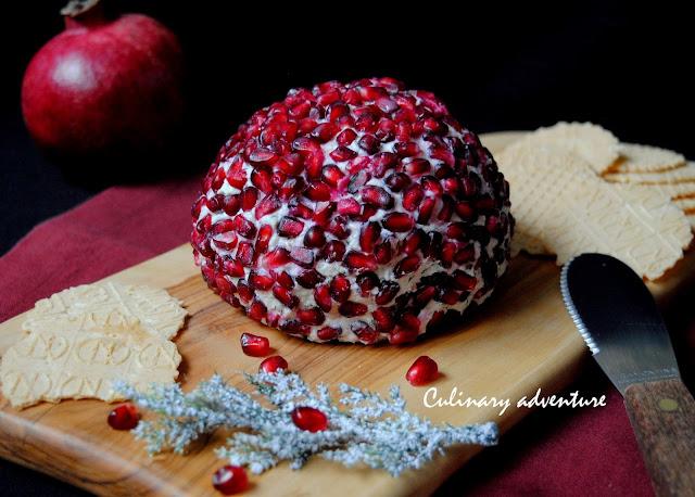 Топка от сирена с нар / Pomegranate Cheese Ball