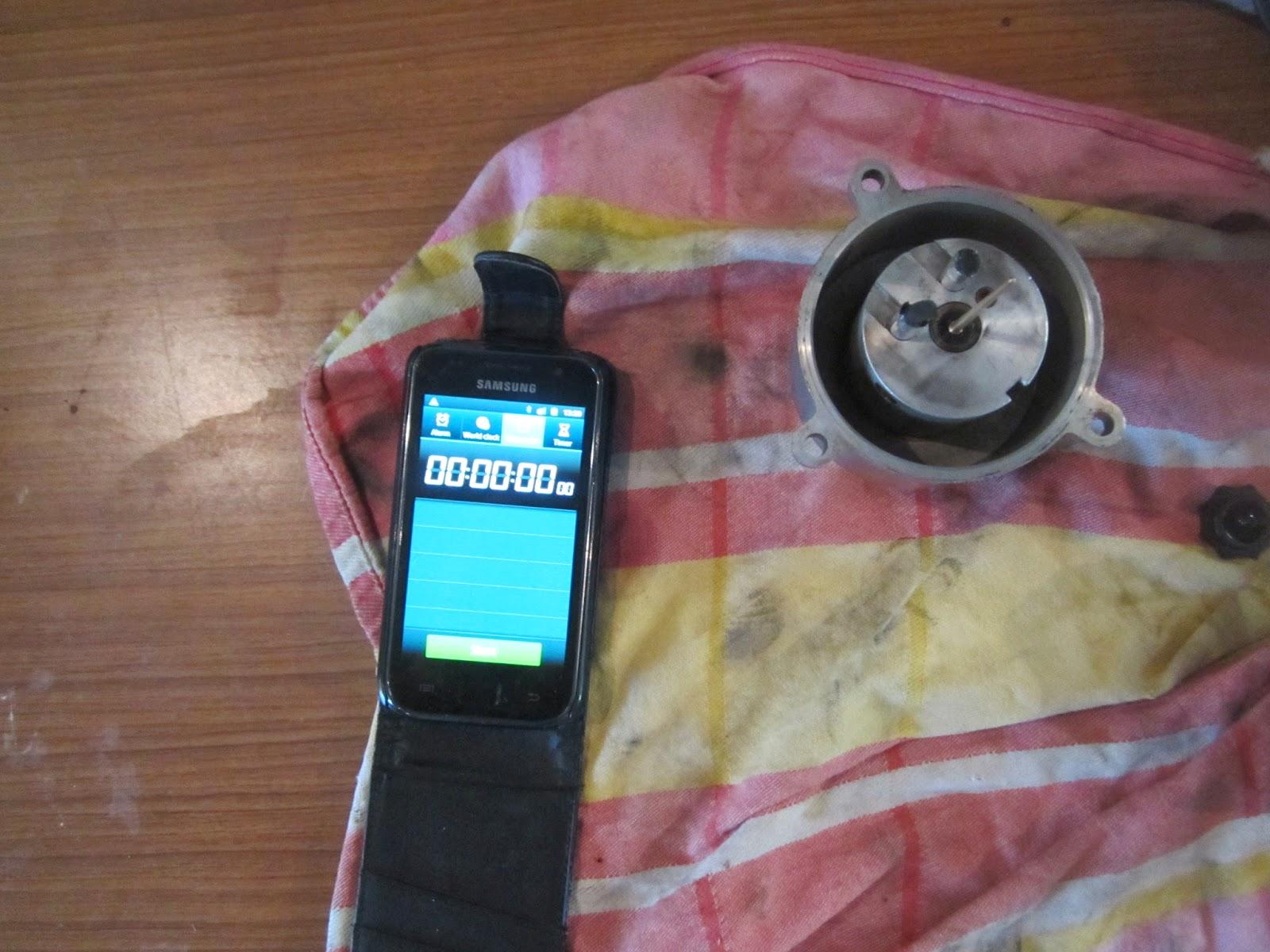 Measuring the SU HS6 carburetter piston drop time
