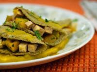 Crepe Verde com Abóbora e Tofu (vegana)