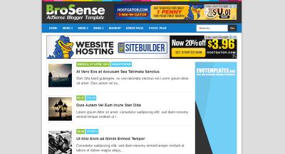 BroSense Template Rekomendasi untuk Adsense