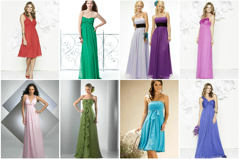Bridesmaid Dresses Made of Colorful Material