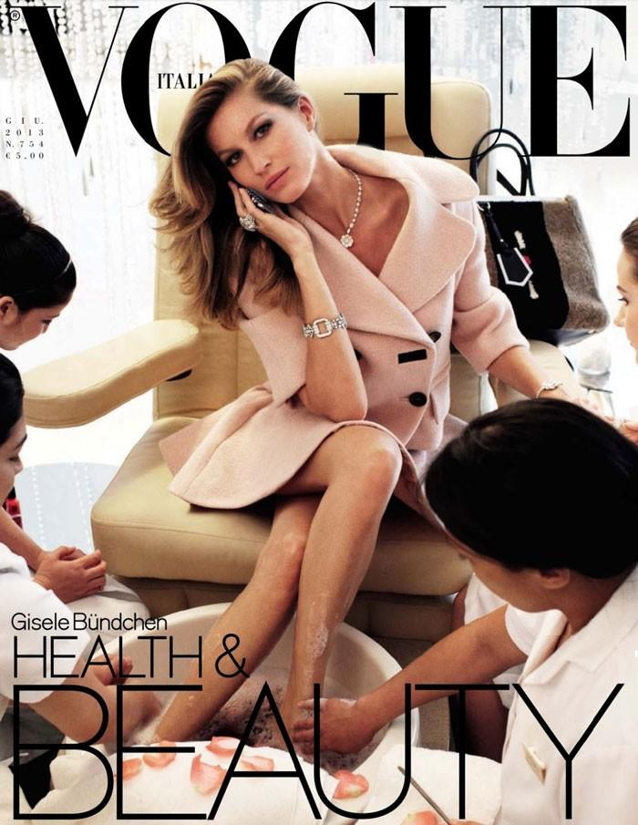 Gisele Bundchen in latest Vogue Italia June 2013 cover