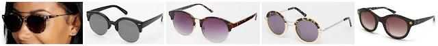 Boohoo Paige Double Bar Retro Sunglasses $7.00 (regular $10.00)  Urban Outfitters Festival Round Sunglasses $12.00 (regular $18.00)  ASOS Collection Half Frame Round Sunglasses $12.50 (regular $18.50)  ASOS Collection Handmade Round Sunglasses $27.00 (regular $68.00)  M Missoni Rounded Acetate Frame Sunglasses $69.97 (regular $240.00)