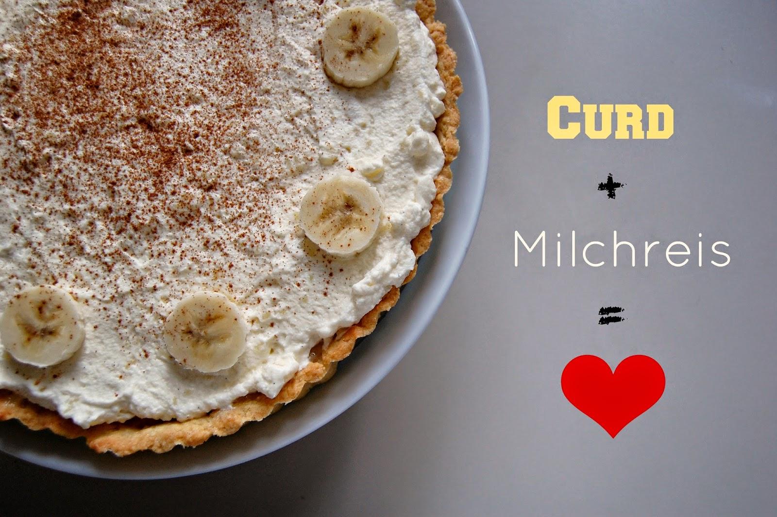 Milchreis, Tarte, Curd, Milch, Reis, Milchreistarte, Backen, baking, Bakery, Foodblogger, Food, Dessert, Kipferl und Krapferl, lecker, yummy, Bananas, Banane