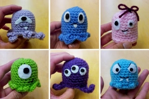 cute little crochet monster plushies