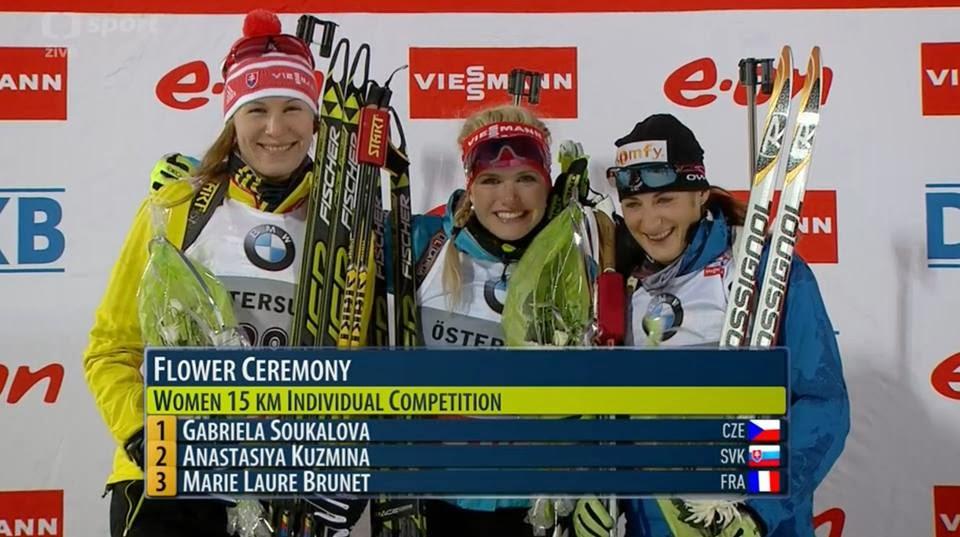 Победительницы индивидуальной гонки в Эстерсунде. Кубок мира 2013/14