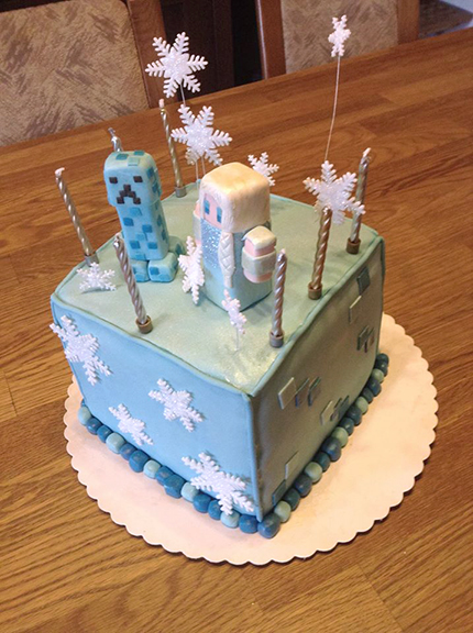 minecraft frozen cake