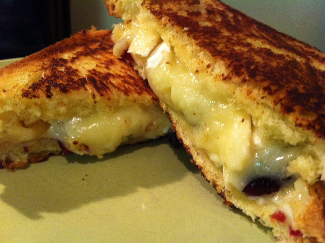 Let's Give Peas a Chance: Cranberry Brie Grilled Cheese